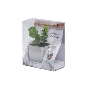 Set planta artificiala + odorizant, aroma Trandafiri