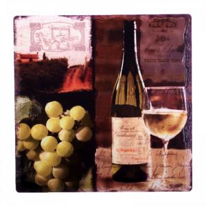 Suport ceramica, pentru pahare, model vin, 20 cm