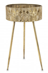 Suport metalic pentru flori, auriu, 68,5 x 39,5 cm