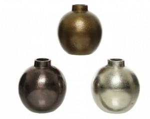 Vaza decorativa metalica, 7.5x8 cm