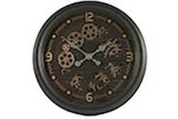 Ceas de perete, metalic, stil industrial, 52.5 cm