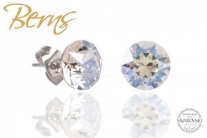 Cercei, cristale Swarovski, cu reflexii, diametru 8mm