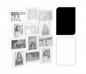 Colaj cu 12 fotografii, 10x15 cm, alb/negru