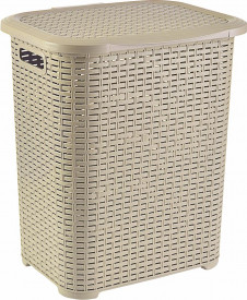 COS PL.TIP RATAN 45 L BEJ, 34,5x41x46 CM