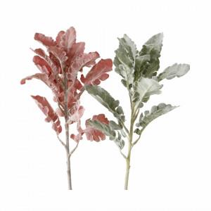 Creanga artificiala, Forsythia, rosu/verde, 47 cm