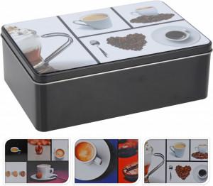 Cutie metalica, dreptunghiulara, model coffee