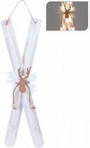 Decoratiune, schiuri albe, 20LED, 60cm