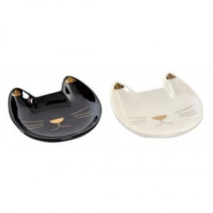 Farfurioara pentru plicul de ceai, model pisica, 10x10 cm