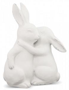 Figurina ceramica, iepurasi, 24x20x10 cm