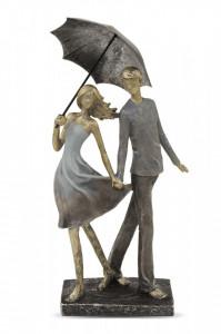 Figurina cuplu cu umbrela, 37x16.5x14 cm