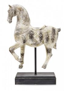 Figurina decorativa cal, aspect antichizat, 48x32x12 cm
