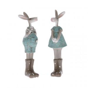 Figurina polirasina, iepuras cu cizme, 12 cm