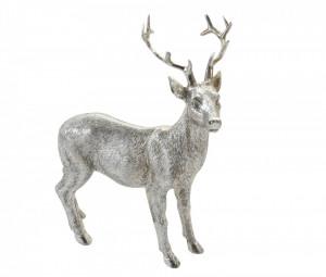 Figurina, ren, argintiu, 16 cm