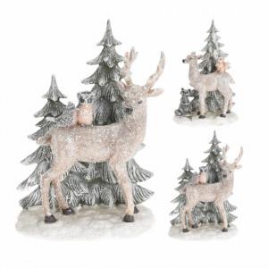 Figurina, ren cu brad, 20 cm