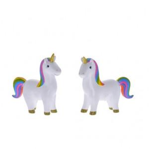 Figurina unicorn curcubeu, inaltime 11.2 cm