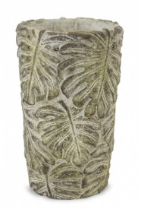 Ghiveci de piatra, model frunze, 18.5 x 11 cm