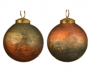 Glob de sticla, rosewood, 7.5 cm