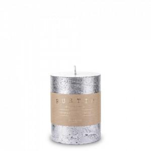 Lumanare handmade, Rustic, silver, 10x7 cm