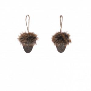 Ornament ghinda maro, agatatoare, 7,5x5,5cm