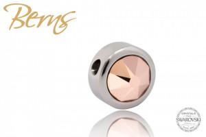 Pandativ, cristale Swarovski, margine argintie, roz
