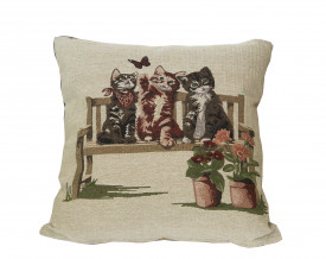 Perna decorativa, model Kittens, 43 x 43 cm