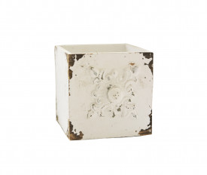 Raft lemn, tip sertar, model antichizat, 11x11.5 cm