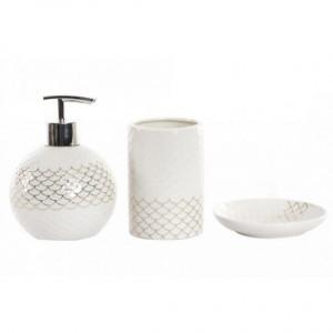 Set 3 piese ceramice pentru baie, alb