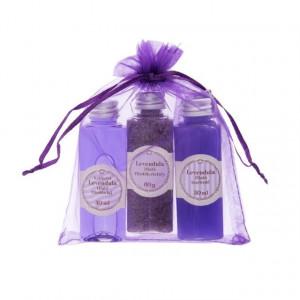 Set cadou levantica ulei/sare de baie/sapun lichid