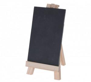 Tablita de scris, ardezie, cu suport lemn, 10x15 cm