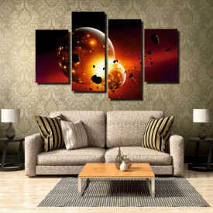 Tablou canvas pe panza space 5 - KM-CM4-SPC5