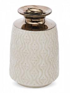 Vaza ceramica cu model, crem, 26x17 cm