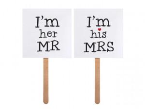 Accesorii foto nunta ( Props ) I'm her Mr/I'm his Mrs
