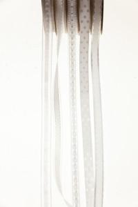 Banda textila alba, cu model, 10mmx5m