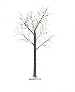 Brad artificial cu zapada, LED, exterior, 240 cm