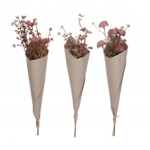 Buchet artificial, flori de camp, ambalat, 56x10 cm
