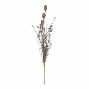 Buchet artificial, maci, maro, 58x5 cm