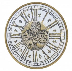 Ceas de perete, auriu antichizat, 59 cm, Treviso