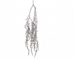 Crenguta artificiala de agatat, argintiu, 86 cm