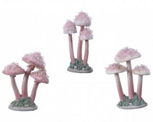 Decoratiune polirasina, ciuperci, 9 cm