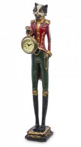 Figurina pisica cu ceas, Rossana Collection, 43x8x8 cm