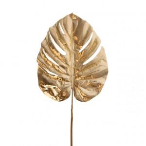 Frunza artificiala, palmier, auriu, 74 cm