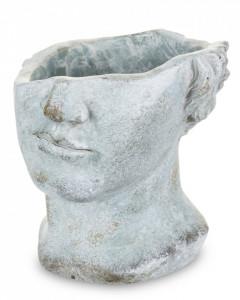 Ghiveci de piatra, figura, gri, 20x18.5x19 cm