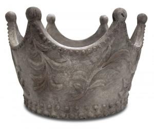 Ghiveci piatra, gri, forma coroana, 19x30 cm
