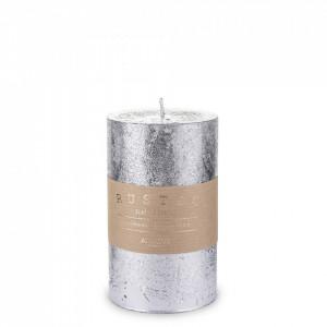Lumanare handmade, Rustic, silver, 14x7 cm