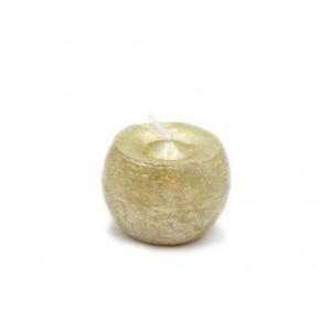 Lumanare, sfera, auriu, 6 cm