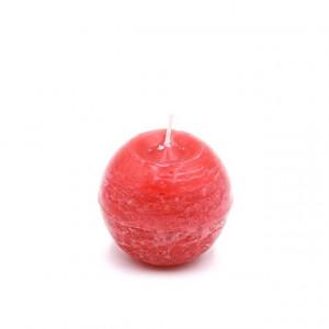 Lumanare sfera, rosu, 8cm