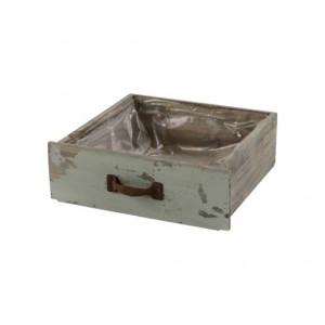 Sertar de lemn, Vintage, dimensiune 22.5x22x8cm