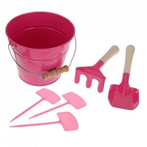 Set de gradina pentru copii, 6 piese, roz