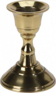 Suport de lumanare metalic, auriu, 8 cm