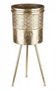 Suport metalic pentru flori, auriu, 62 x 25 x 25 cm